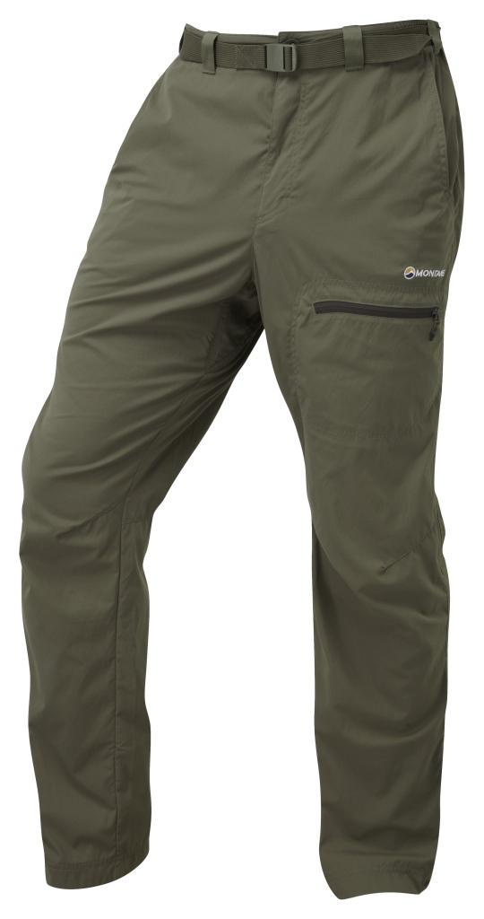 TERRA PACK PANTS-REG LEG-FLINT-M pánské kalhoty hnědé
