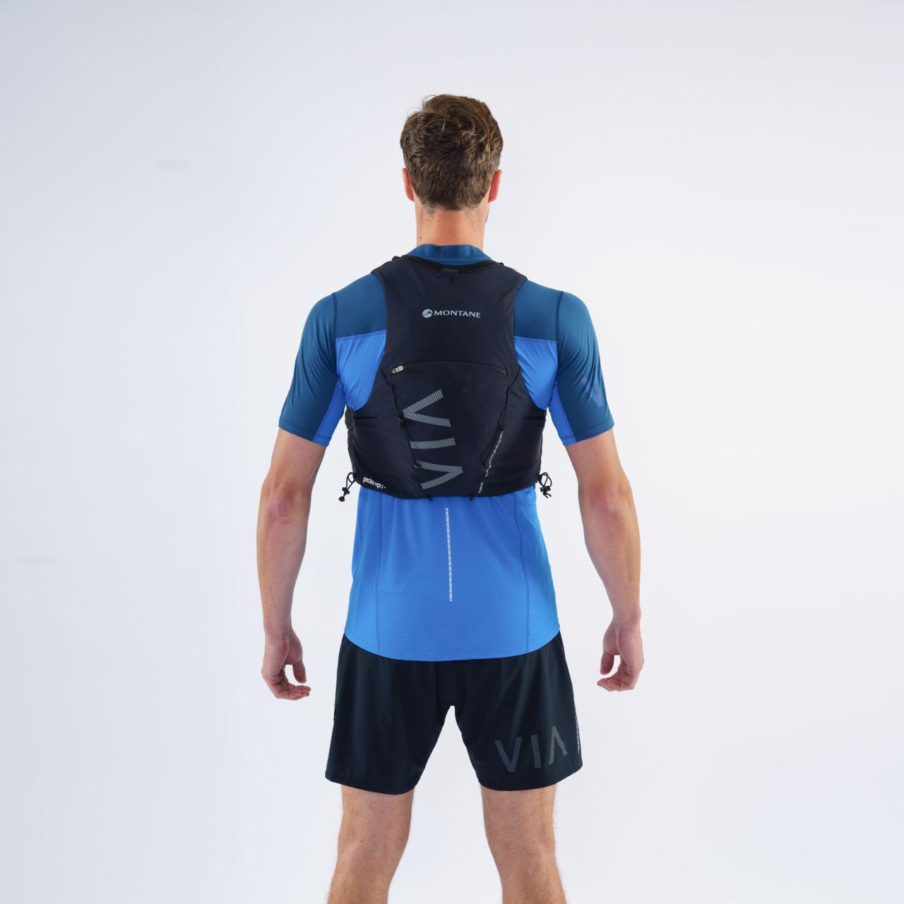 GECKO VP 5+-NARWHAL BLUE-M běžecká vesta modrá