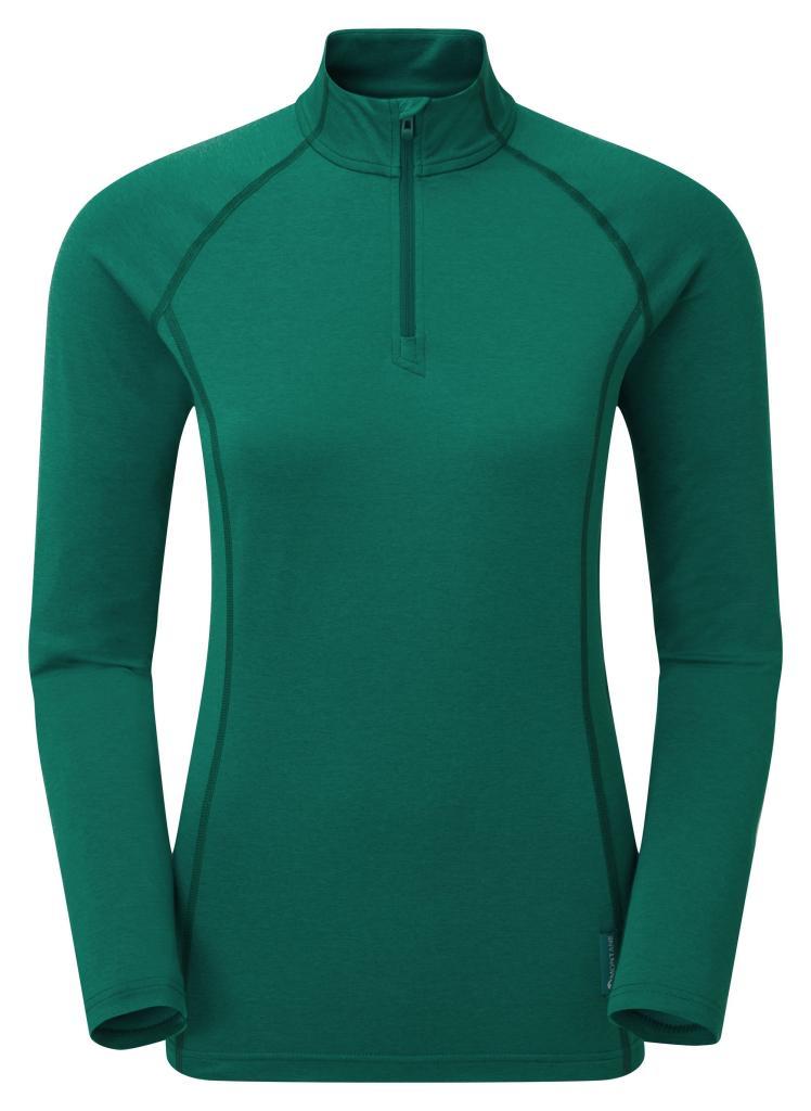 FEM DART THERMO ZIP NECK-WAKAME GREEN-36 dámské triko dlouhý ruk. zelené