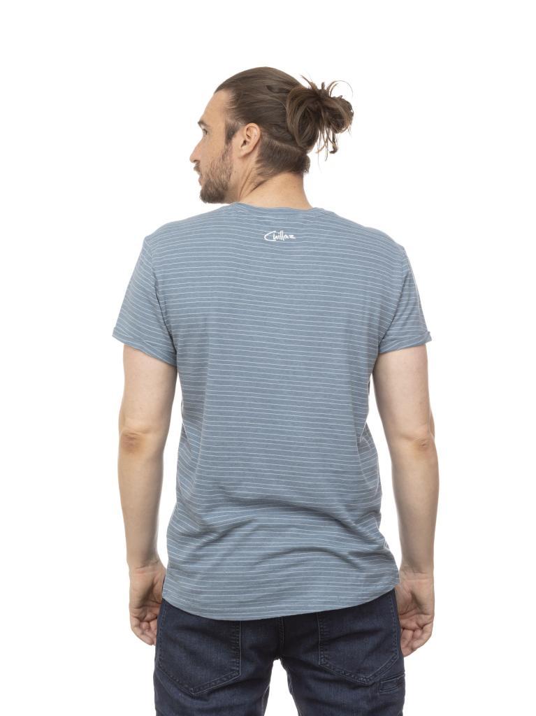 ARCO HOWLING WOLF-GREY BLUE-M-pánské-tričko-šedomodré