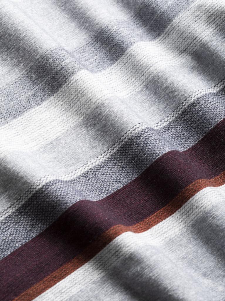 STREET-MULTICOLOR GREY MELANGE-M-pánské-triko s dlouhým rukávem-šedé pruhované