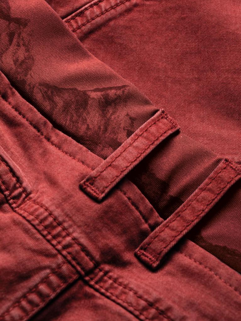 WILDER KAISER-DARK TERRACOTTA-M-pánské-3/4 kalhoty-tmavě oranžové