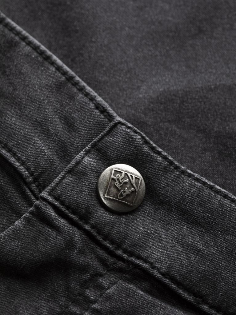 KUFSTEIN-DENIM BLACK-M-pánské-kalhoty-černé
